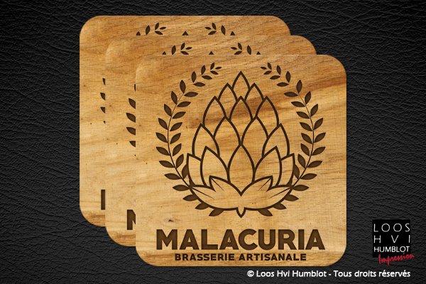 Impression sous bock personnalise Bar Brasserie malacuria