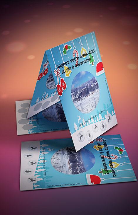 Hervorragend Impression jeux cartes et tickets à gratter personnalisés  SZ82